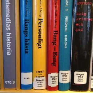 Biografier märks även med klartext och person.